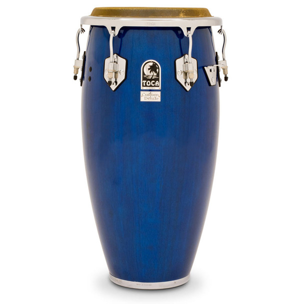 Toca 4611-3/4BW Custom Deluxe 11-3/4 in. Conga Drum, Blue