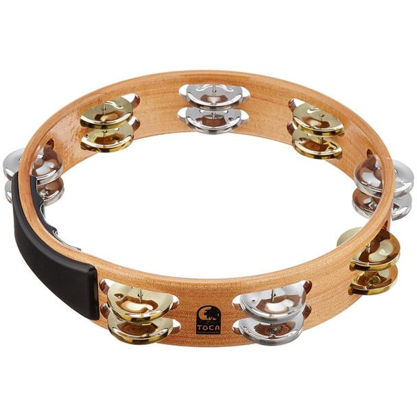 Toca Acacia Tambourine With Nickle & Brass Jingles 10 Inch