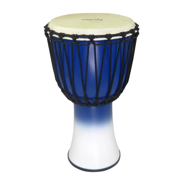 Tycoon 10‰Û_ Fiberglass Djembe ‰ÛÒ Rope Tuned Blue & White Finish