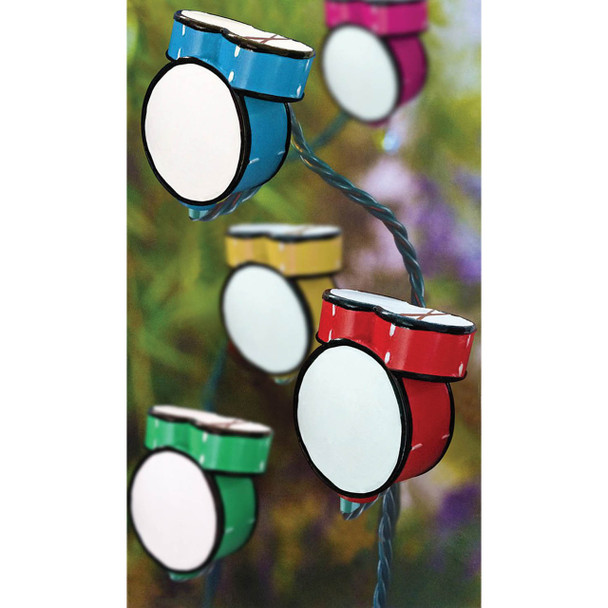 Drum Set Christmas Lights