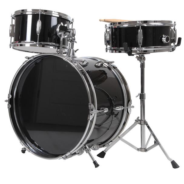 X8 Drums 3-Pc Junior Drum Kit, Black - OPEN BOX