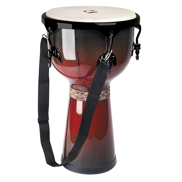 Rhythm Tech RT5122 12 in. Djembe, Red/Black Burst