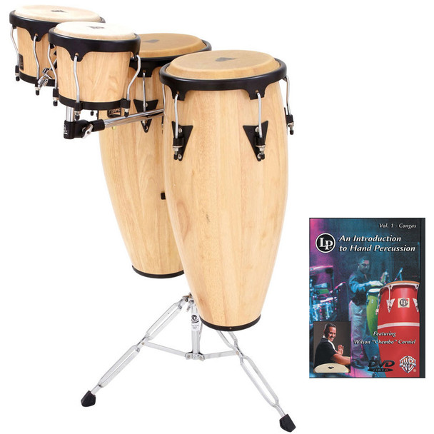 LP Aspire Conga Set with Bongos, Mount and DVD