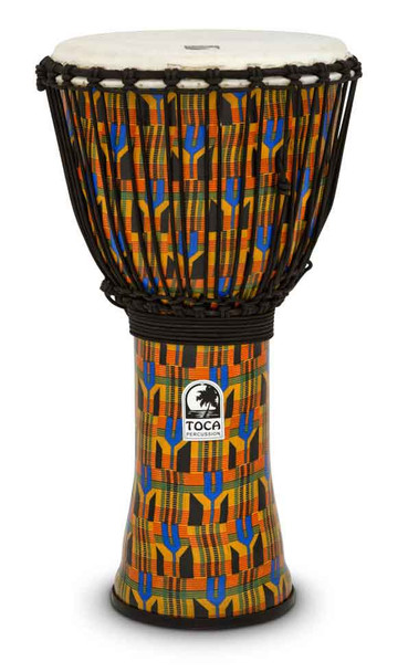 "Toca Rope Tuned 12"" Synergy Freestyle Djembe, Kente Cloth (SFDJ-12K)"