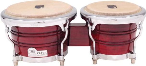 Toca Elite Pro Wood Bongos Crimson Maple Fade (3170CF)