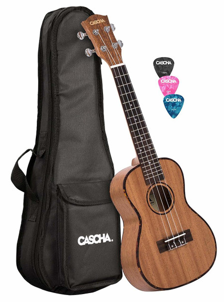 Cascha Premium Mahogany Concert Ukulele Set