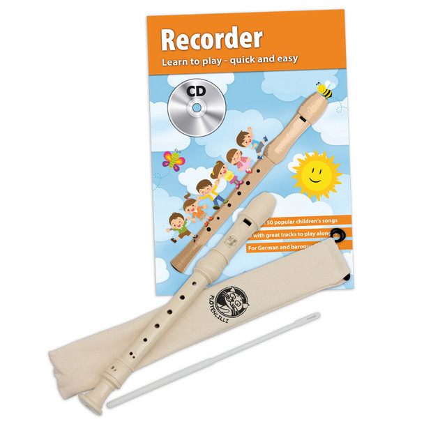 Cascha Recorder Set - German Fingering w/ Learn to Play Book/CD