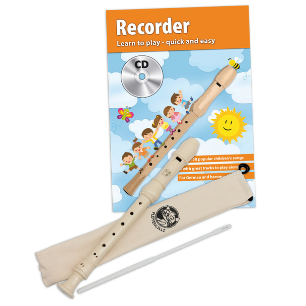 Cascha Recorder Set - Baroque Fingering w/ Learn to Play Book/CD