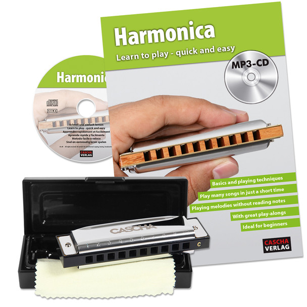 Cascha Blues Harmonica with How to Play Book/CD