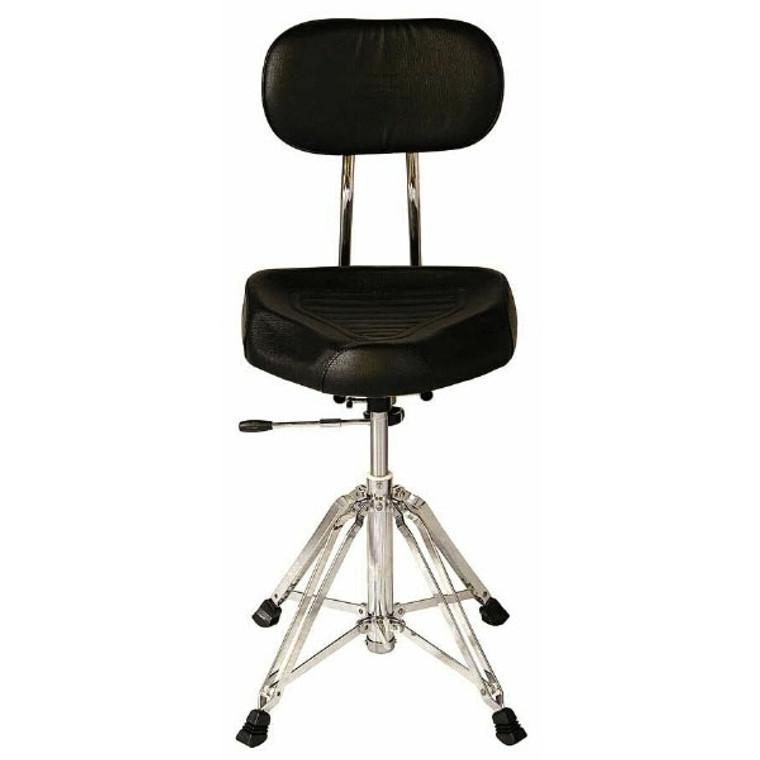 Percussion Plus Hydraulic Drum Throne w/ Backrest