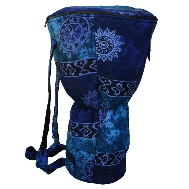 XXL Djembe Drum Backpack, Blue Celestial Design (For 14x26 Djembes)