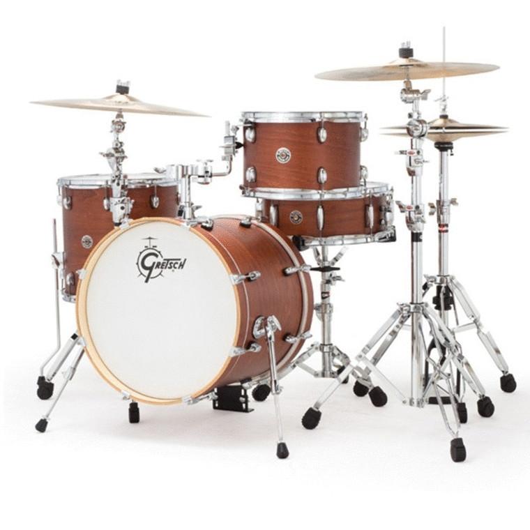 "Gretsch Drums Catalina Club Jazz 18"" Kick 4-Piece Drum Shell Pack - Satin Walnut Glaze"