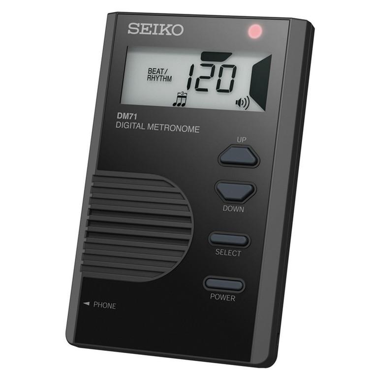 Seiko Pocket Sized Digital Metronome, Black