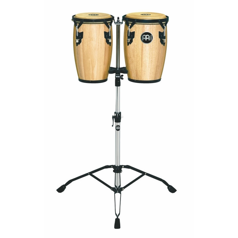 """Meinl Wood Conguitas 8"""" & 9"""" with Stands Natural"""