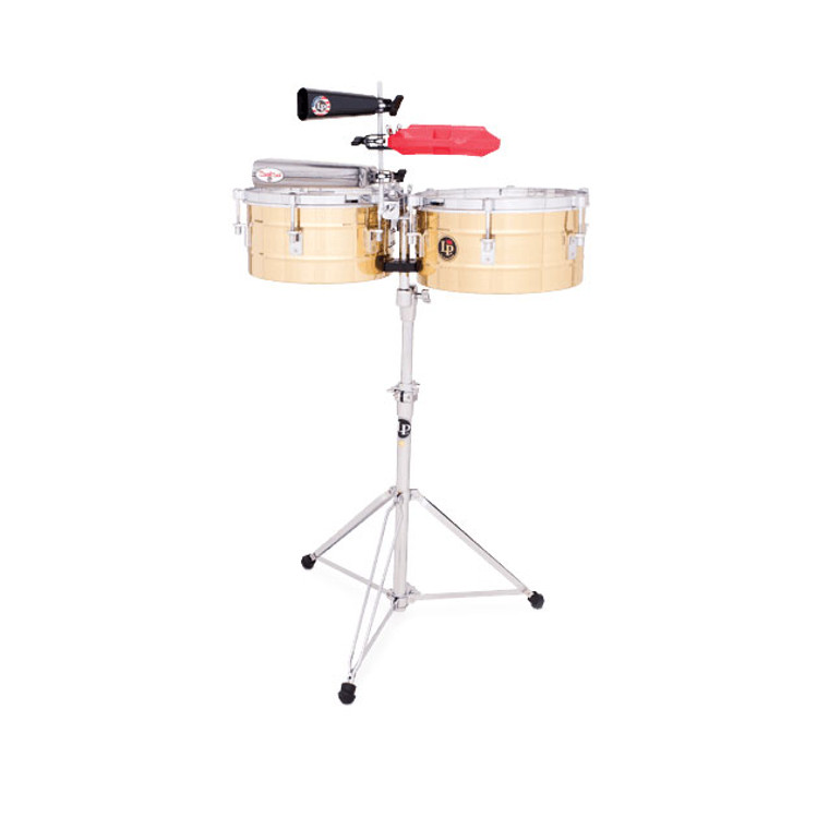 """LP Tito Puente Timbales, 12"""" & 13"""", Brass (LP255-B)"""