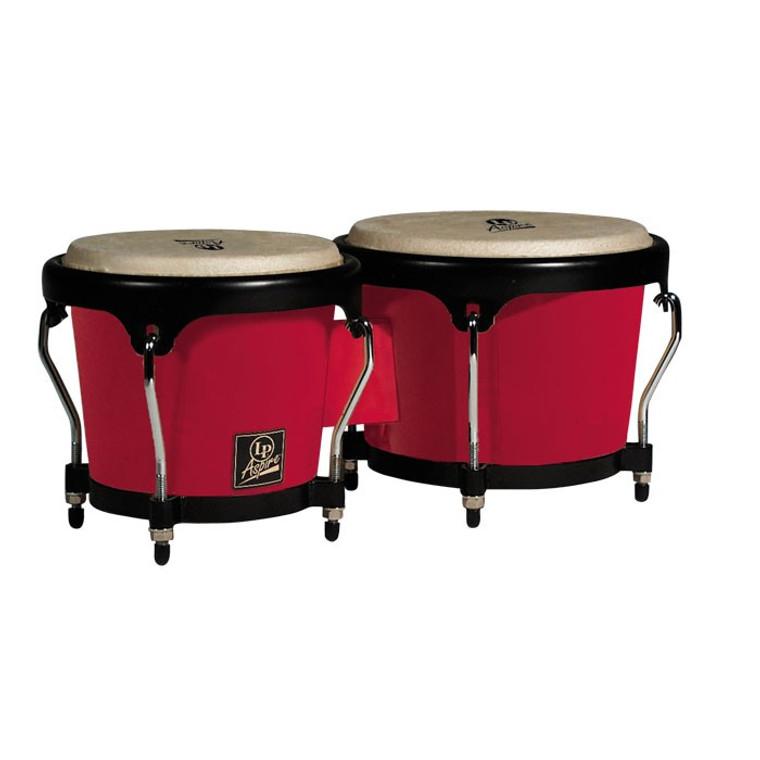 LP Aspire Fiberglass Bongos, Red (LPA601F-RD)