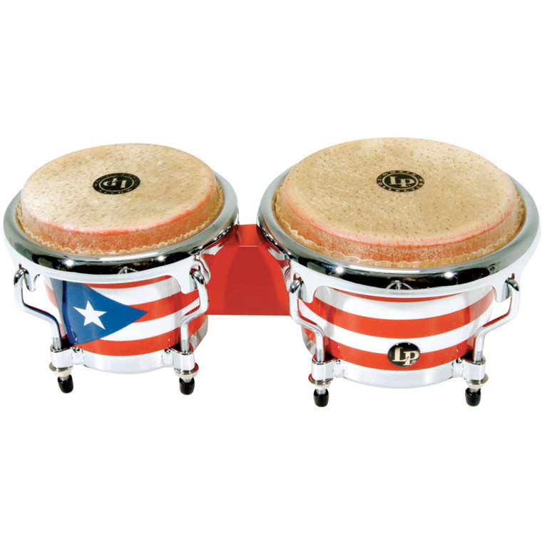 LP Puerto Rican Flag Mini Wood Bongos