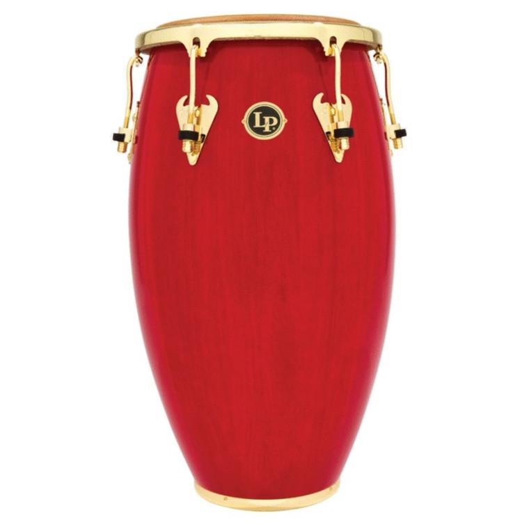 """LP Matador 12-1/2"""" Wood Tumbadora, Red/Gold Tone"""