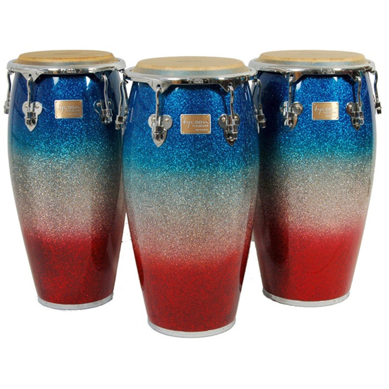Tycoon Percussion Master Platinum Tri-Fade Series Congas