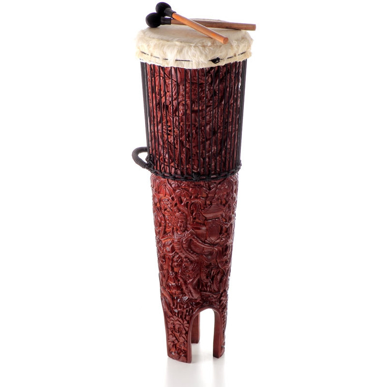 "Rama Sita Ngoma Drum, 15"" x 46"" with Beaters"