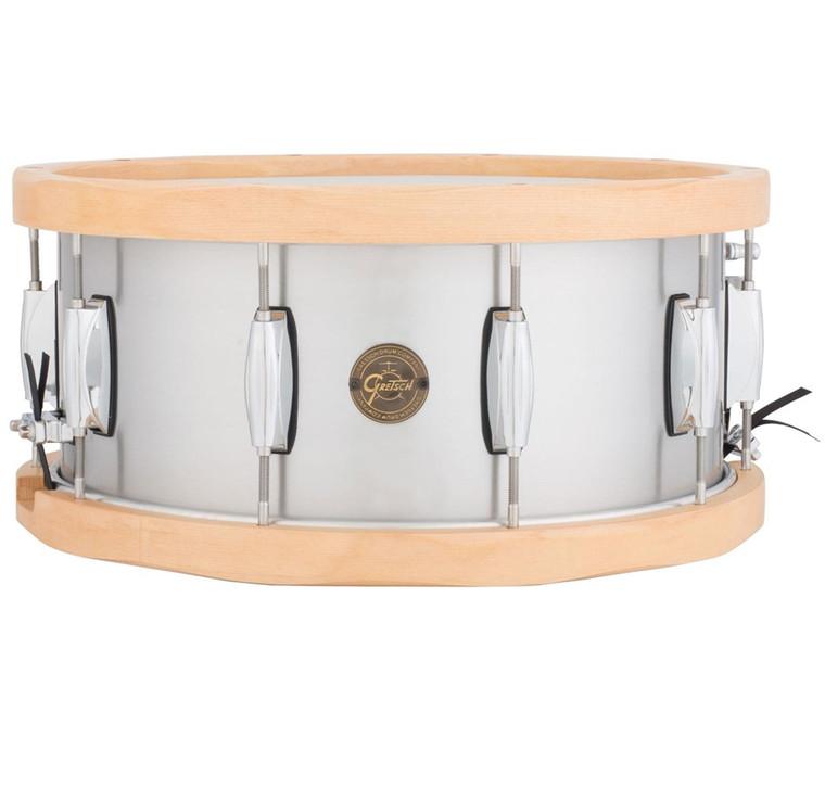 Gretsch Aluminum Snare w/ Wood Hoops 6.5X14