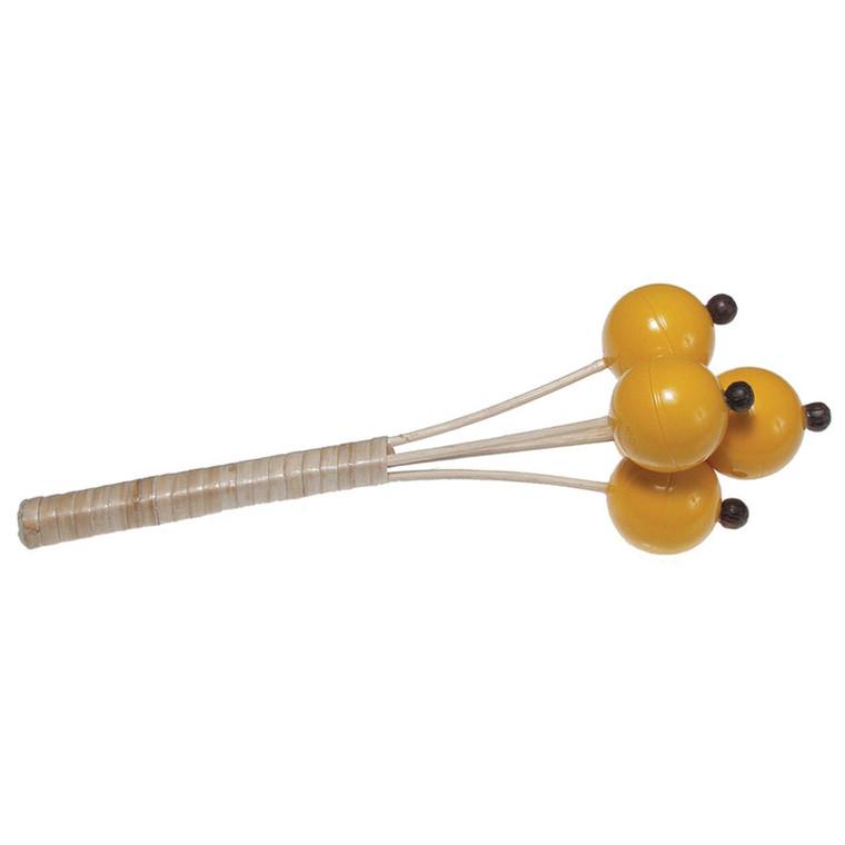 Toca Rattan Yellow Ball Shaker on Stick