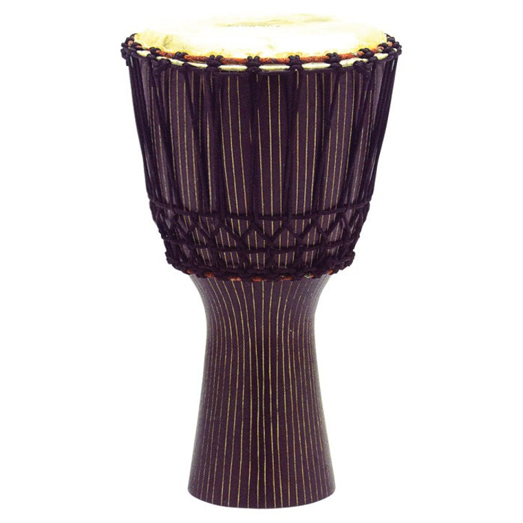 Tycoon Percussion African Rope Tuned Djembe, Pinstripe Finish