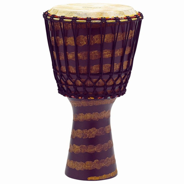 Tycoon Percussion African Rope Tuned Djembe, Stripe Finish