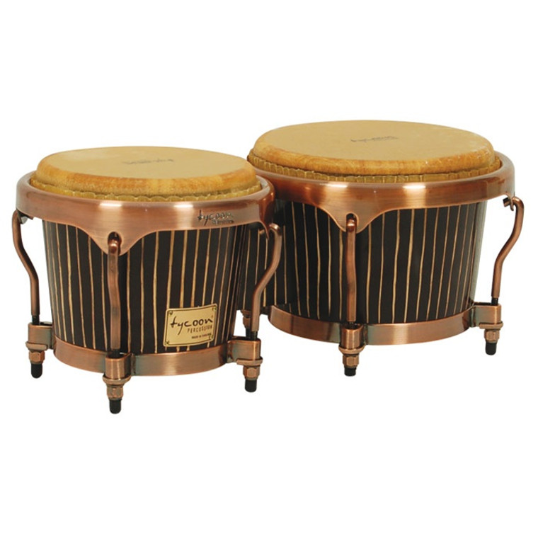 Tycoon Percussion Master Hand Crafted Pinstripe Series Bongos