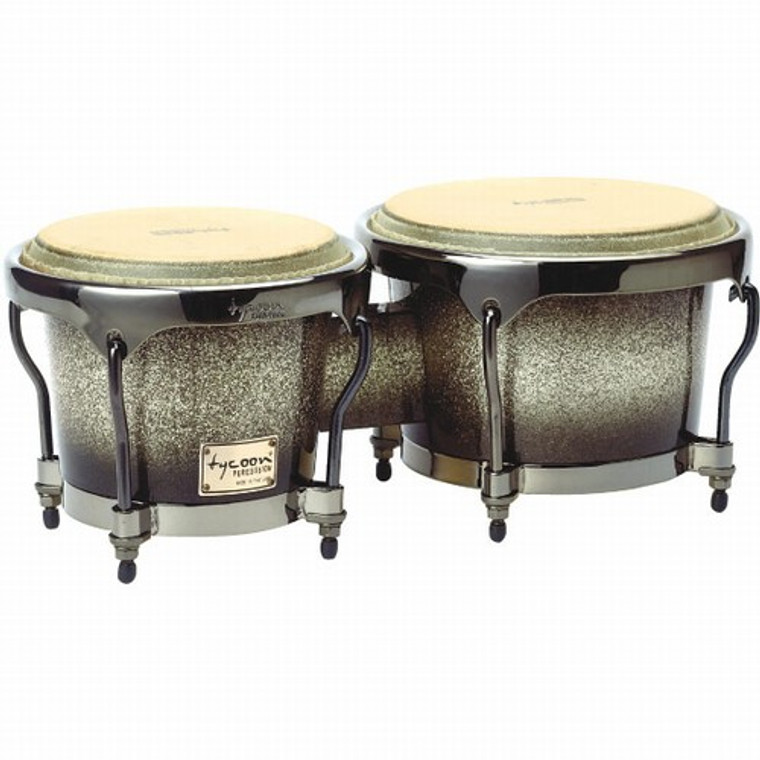 Tycoon Percussion Master Platinum Fade Series Bongos