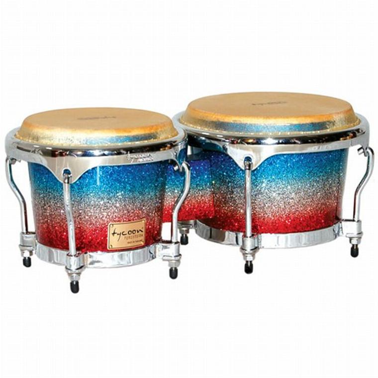 Tycoon Percussion Master Platinum Tri-Fade Series Bongos