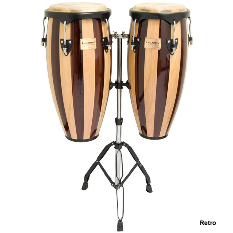 Tycoon Artist Series Retro Conga Set with Double Stand