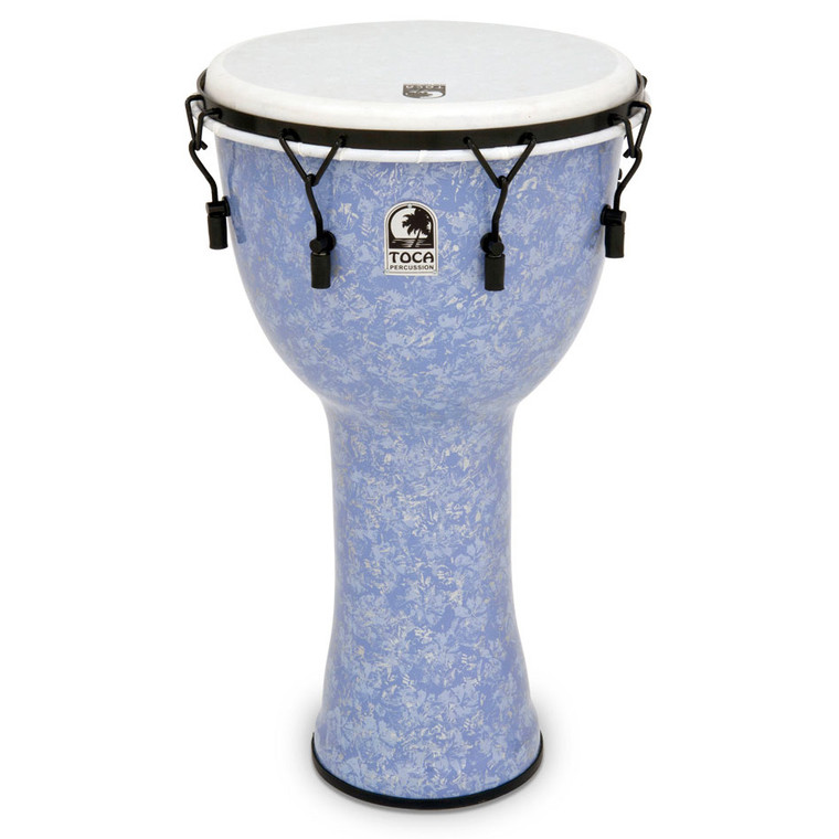 """Toca 14"""" Freestyle II Mechanically Tuned Djembe, Lavender, with Free Bag"""