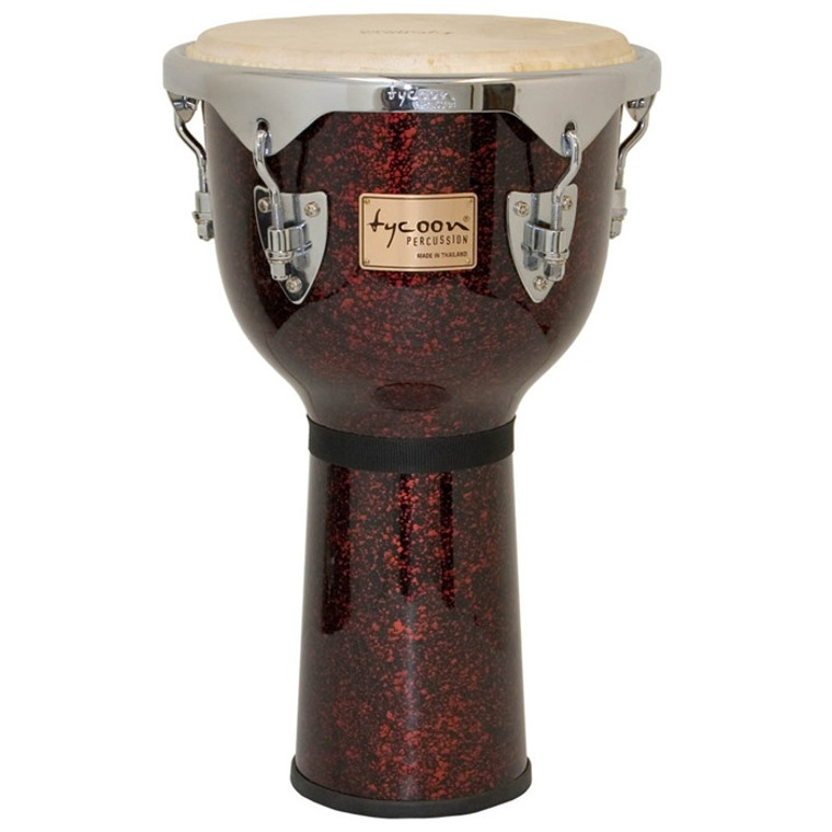 Tycoon Percussion Concerto Series Djembe, Red Pearl