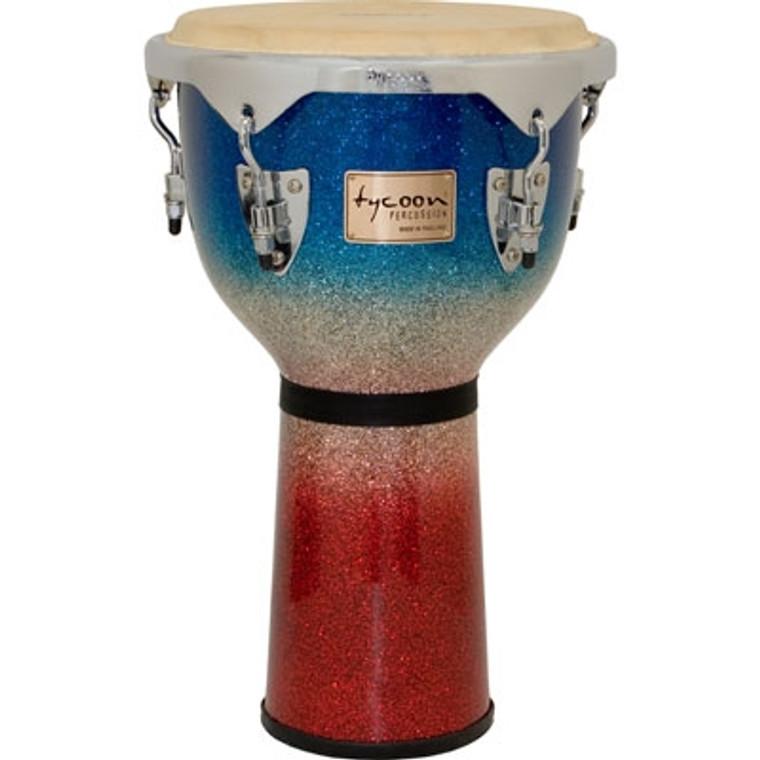 Tycoon Percussion Master Platinum Tri-Fade Djembe