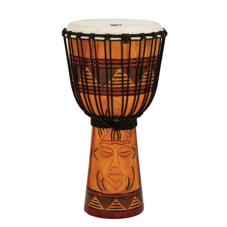"""Toca Origin Series Djembe, Tribal Mask, 10"""" Head x 20"""" Tall"""