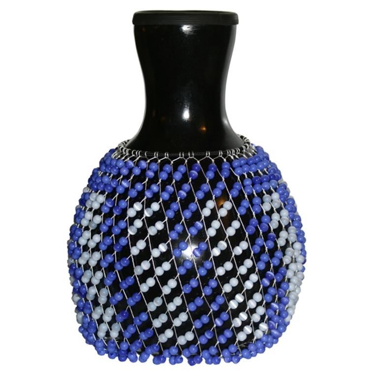 X8 Drums Fiberglass Shekere - Black/Blue Beads