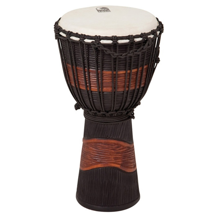 """Toca Street Series 8"""" Djembe, Brown and Black Stain"""