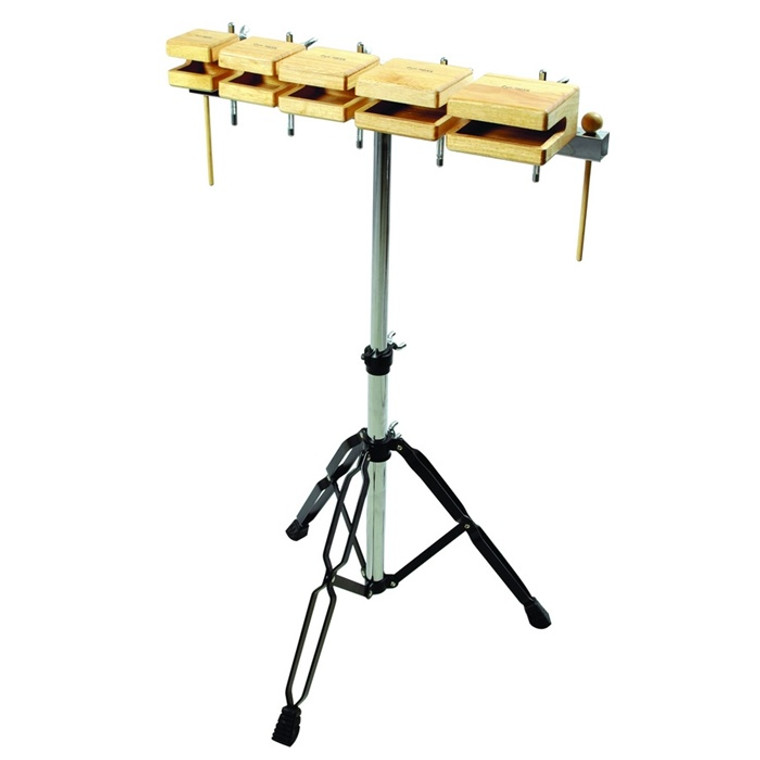 Tycoon Percussion Temple Wood Block Set (with Stand)