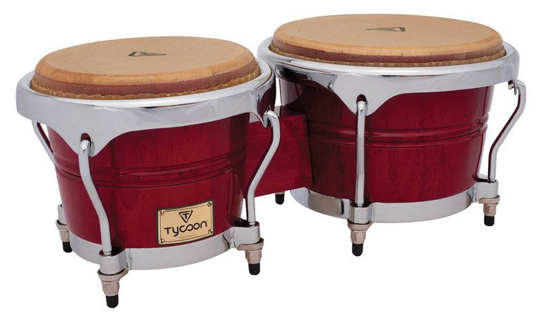 Tycoon Percussion Concerto Series Bongos, Red
