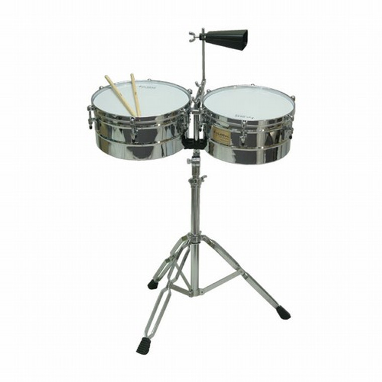 """Tycoon Timbales, Chrome, 13"""" & 14"""""""