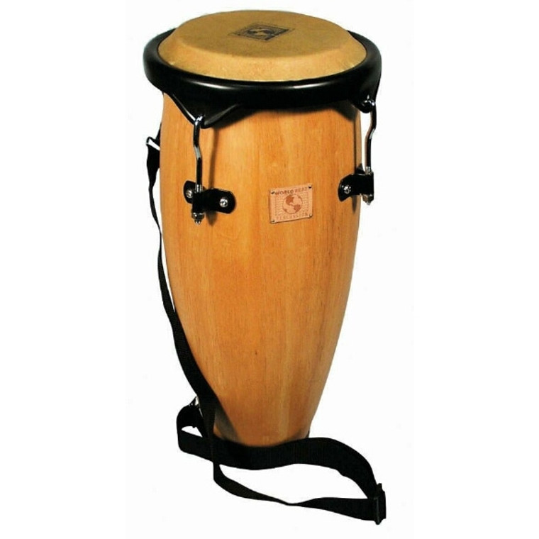 World Beat Caribe Conga, Natural Wood