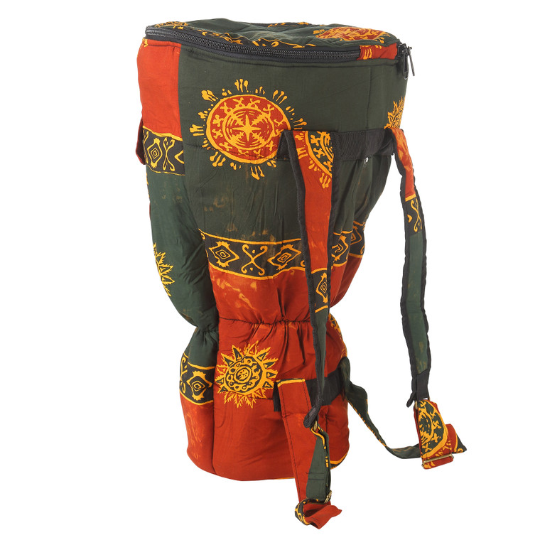 Large Djembe Drum Backpack, Chocolate Celestial Design (For 10x20 Djembes)