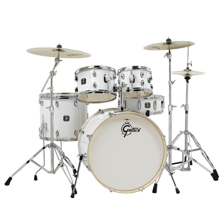 Gretsch Energy 5-Piece Kit with Full Hardware Package & Zildjian Cymbals White