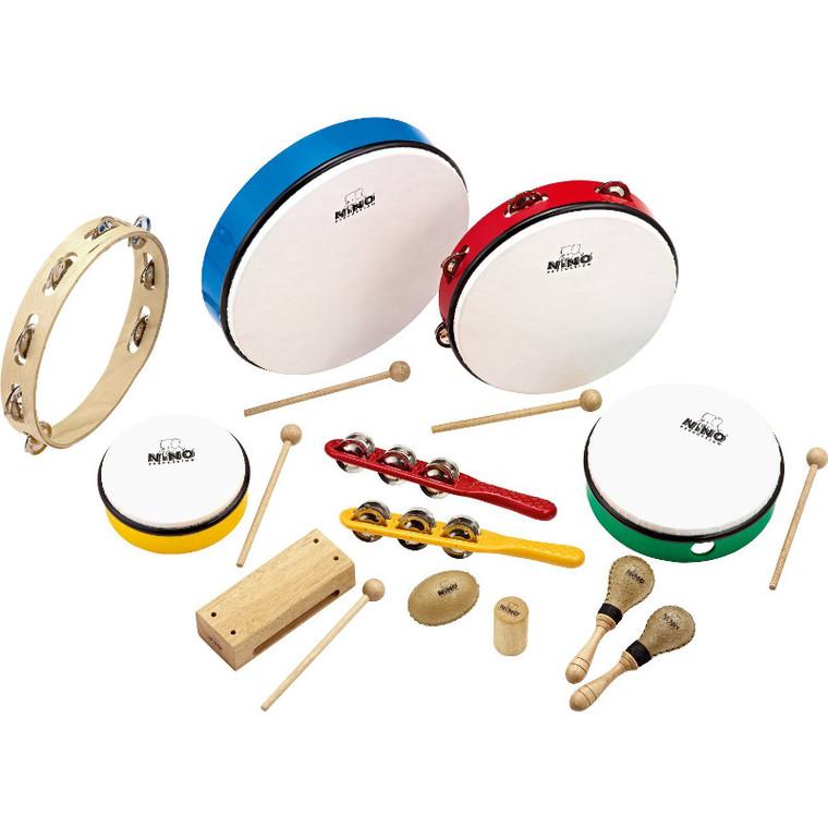 Nino Percussion Classroom Rhythm Set, 12 Pieces