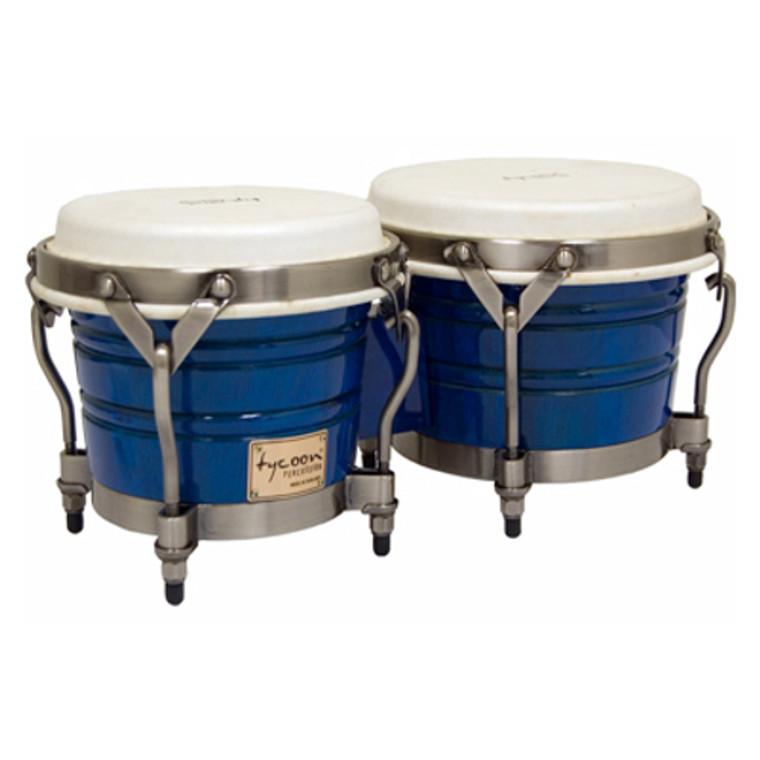 Tycoon Percussion Signature Classic Blue Bongos