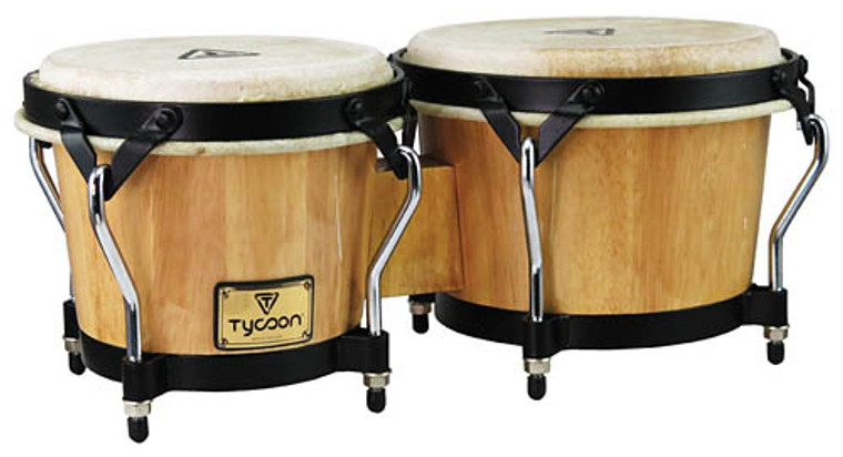 Tycoon Percussion Supremo Series Natural Bongos