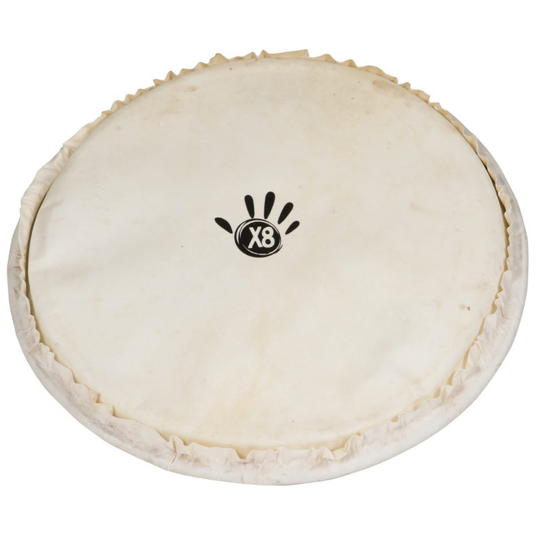 """X8 Drums Goatskin Djembe Drum Head with Ring, 14"""""""