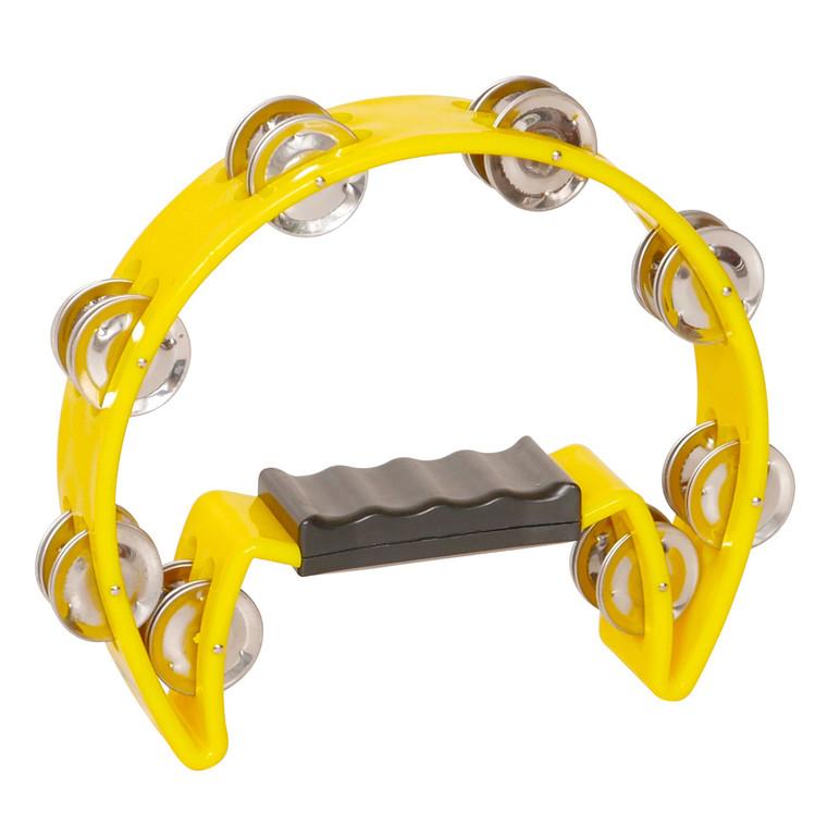 X8 Drums Crescent Tambourine, Yellow