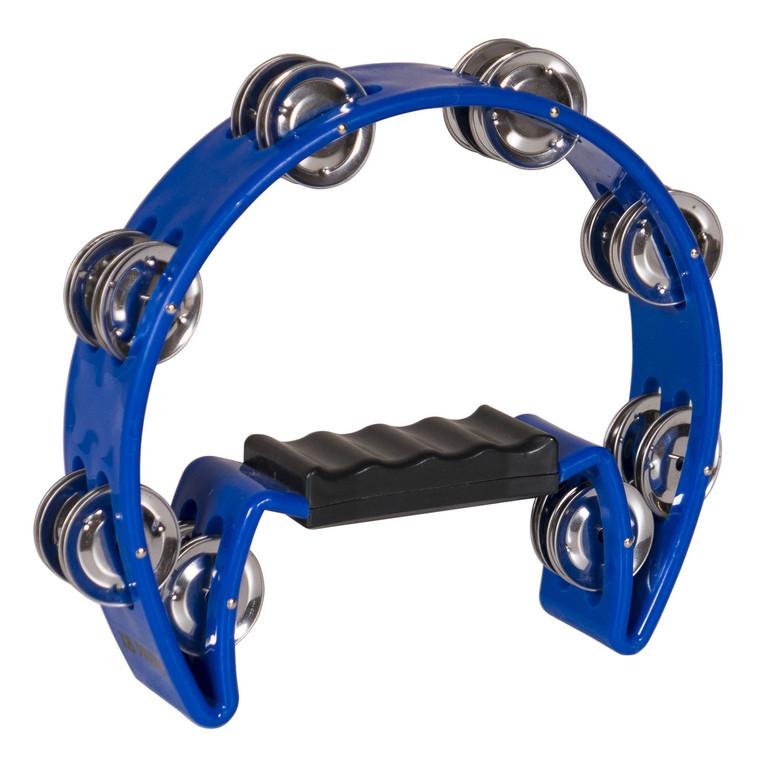 X8 Drums Crescent Tambourine, Blue
